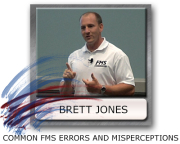 Brett Jones, errors in the FMS