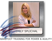 Emily Splichal barefoot training