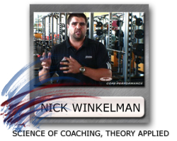 nick winkelman coaching science, workout coaching cues, nick winkelman cueing