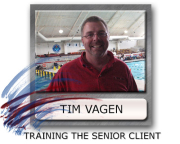 training the senior athlete Tim Vagen