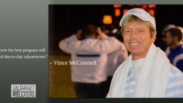 Adjusting a workout program, Vince McConnell