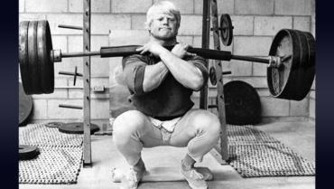front squats Dave Draper